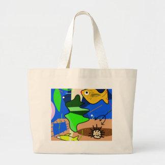 Aquarium Large Tote Bag