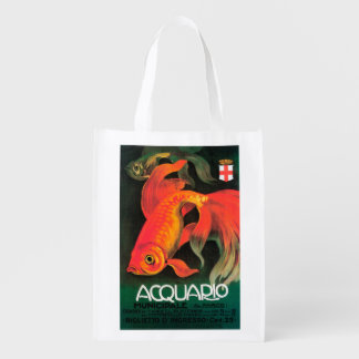 Aquarium & Municipal Park Promotional Poster Grocery Bag