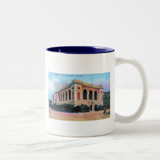 Aquarium, Napoli Naples Italy 1915 Vintage Two-Tone Coffee Mug