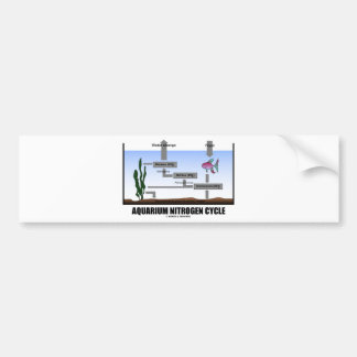 Aquarium Nitrogen Cycle (Ecology) Bumper Stickers