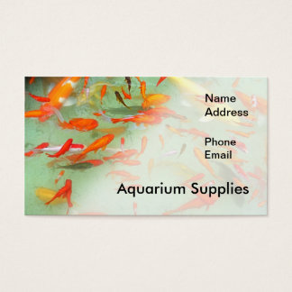 Aquarium or Water Garden with Goldfish Business Card