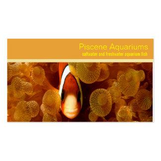 aquarium pet shop business card