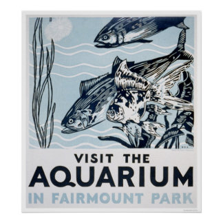 Aquarium Phildadelphia 1937 WPA Poster