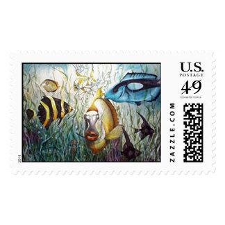 Aquarium Postage Stamps