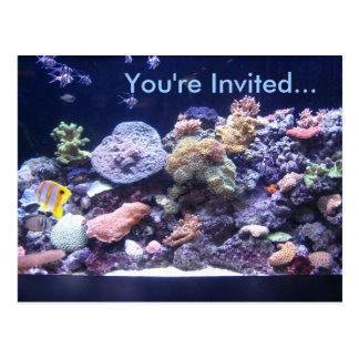 Aquarium Postcard Invitation