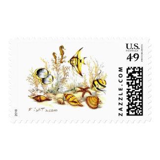 Aquarium Scene by FishTs.com Stamps