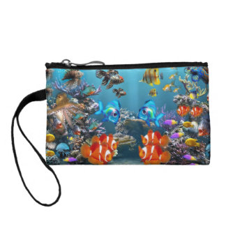 Aquarium Sealife Coin Wallet