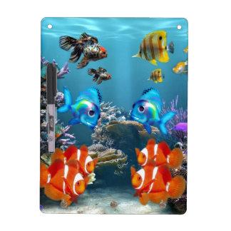 Aquarium Sealife Dry Erase Board