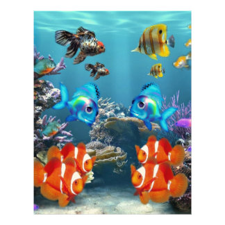 Aquarium Sealife Letterhead