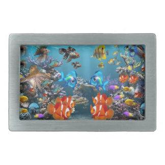 Aquarium Sealife Rectangular Belt Buckle