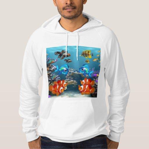 Aquarium Sealife Style Hoody
