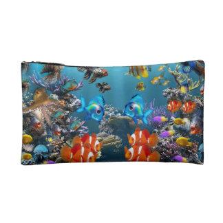 Aquarium Sealife Style Makeup Bag