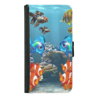 Aquarium Sealife Wallet Phone Case For Samsung Galaxy S5
