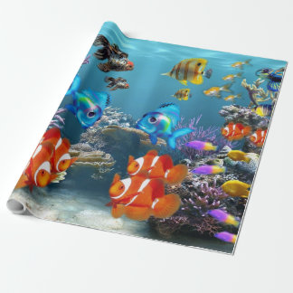Aquarium Sealife Wrapping Paper