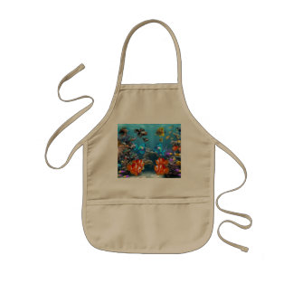 Aquarium Style Kids' Apron