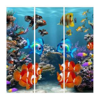 Aquarium Style Triptych