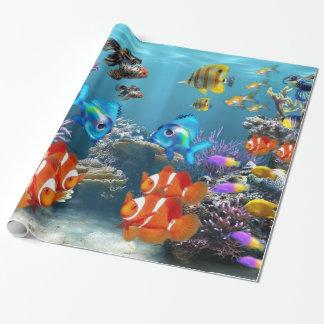 Aquarium Style Wrapping Paper