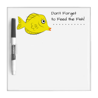 Aquarium Tropical Fish Feeding Instructions Dry-Erase Board