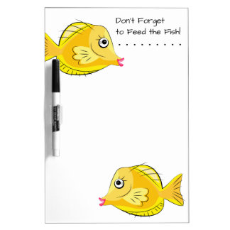 Aquarium Tropical Fish Feeding Memo Dry Erase Board