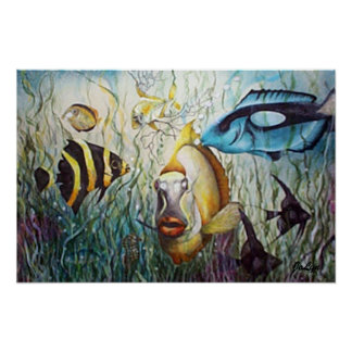 Aquarium View Poster