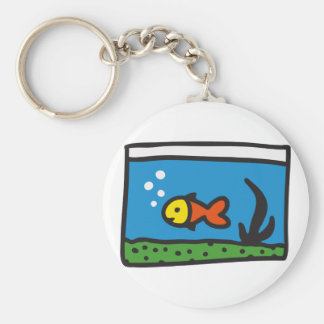 Aquarium with fish keychain