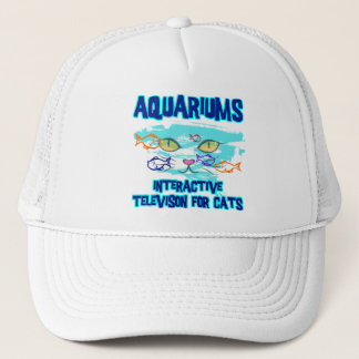 AQUARIUMS, INTERACTIVE TELEVISION FOR CATS TRUCKER HAT