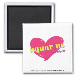 Aquarius 2 Inch Square Magnet