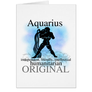 Aquarius About You Greeting Card