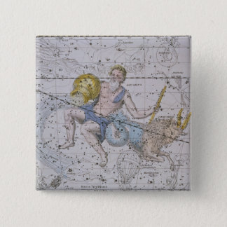 Aquarius and Capricorn, from 'A Celestial Atlas', Button