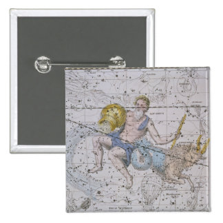 Aquarius and Capricorn, from 'A Celestial Atlas', Button