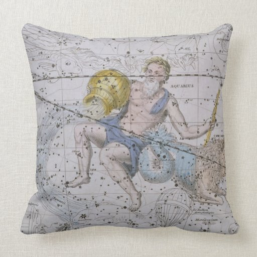 Aquarius and Capricorn, from 'A Celestial Atlas', Pillows