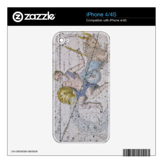 Aquarius and Capricorn, from 'A Celestial Atlas', Decals For iPhone 4