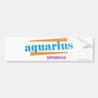 Aquarius Aqua Car Bumper Sticker