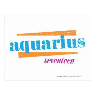 Aquarius Aqua Postcard
