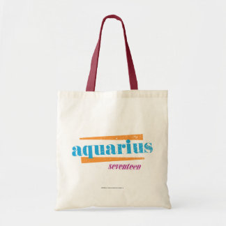 Aquarius Aqua Tote Bag