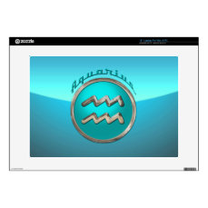 "Aquarius Astrological Sign 15"" Laptop Skin"