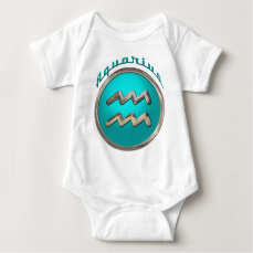 Aquarius Astrological Sign Baby Bodysuit