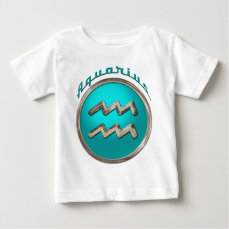Aquarius Astrological Sign Baby T-Shirt