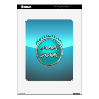 Aquarius Astrological Sign Decals For The iPad