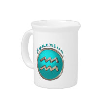 Aquarius Astrological Sign Drink Pitcher