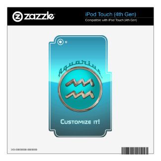 Aquarius Astrological Sign iPod Touch 4G Skin