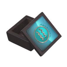 Aquarius Astrological Sign Jewelry Box