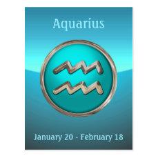 Aquarius Astrological Sign Postcard
