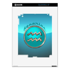 Aquarius Astrological Sign Skin For The iPad 2