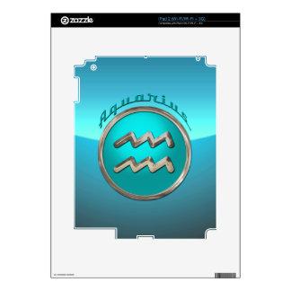 Aquarius Astrological Sign Skin For The iPad 2