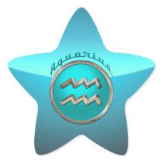 Aquarius Astrological Sign Star Sticker