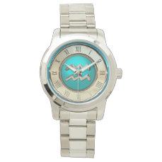 Aquarius Astrological Sign Wristwatch