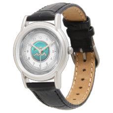 Aquarius Astrological Symbol Wristwatch