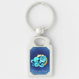 Aquarius Astrological Zodiac Sign Keychain