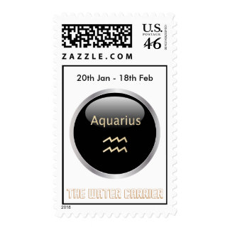 Aquarius astrology star sign postage stamp